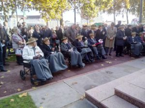 Lester at the Remembrance parade
